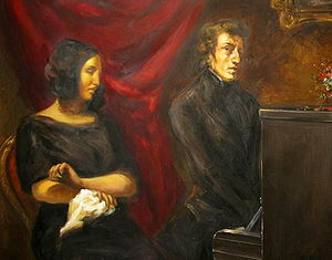 Chopin and George Sand by Delacroix